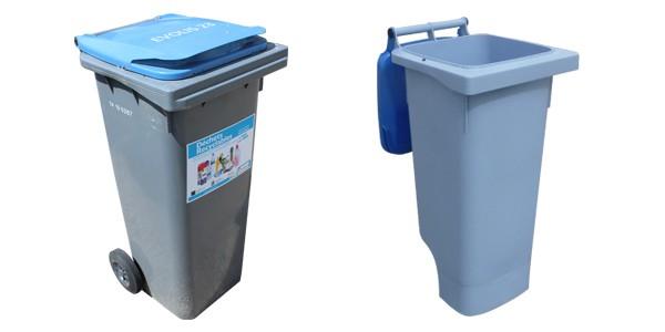 gauche : cuve grise, droite : cuve bleue claire